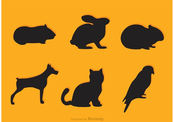 700x490 Vector Pet Silhouette Icons 110341