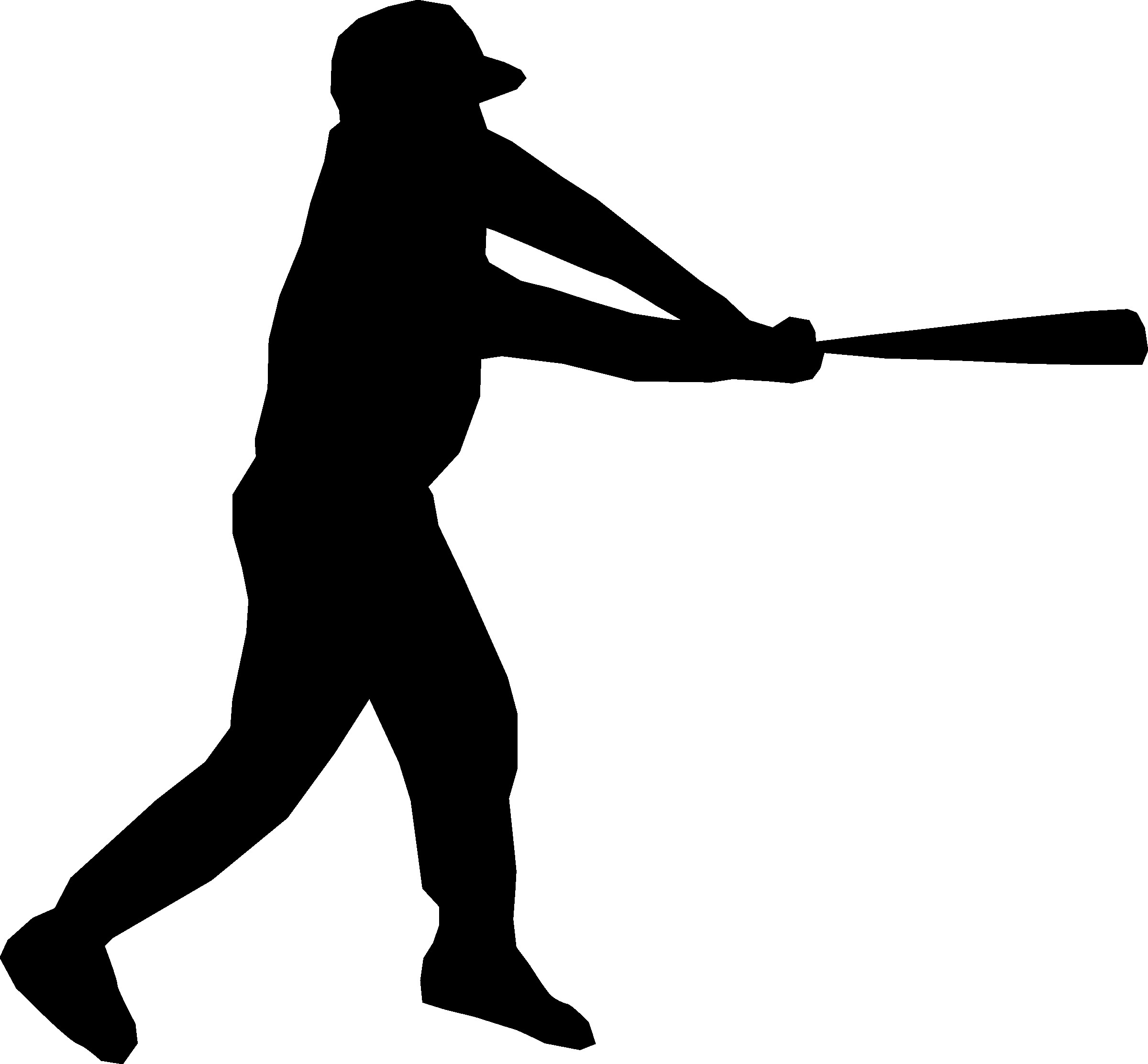 2400x2225 Baseball Player Silhouette Icons Png Free And Downloads Fine Png