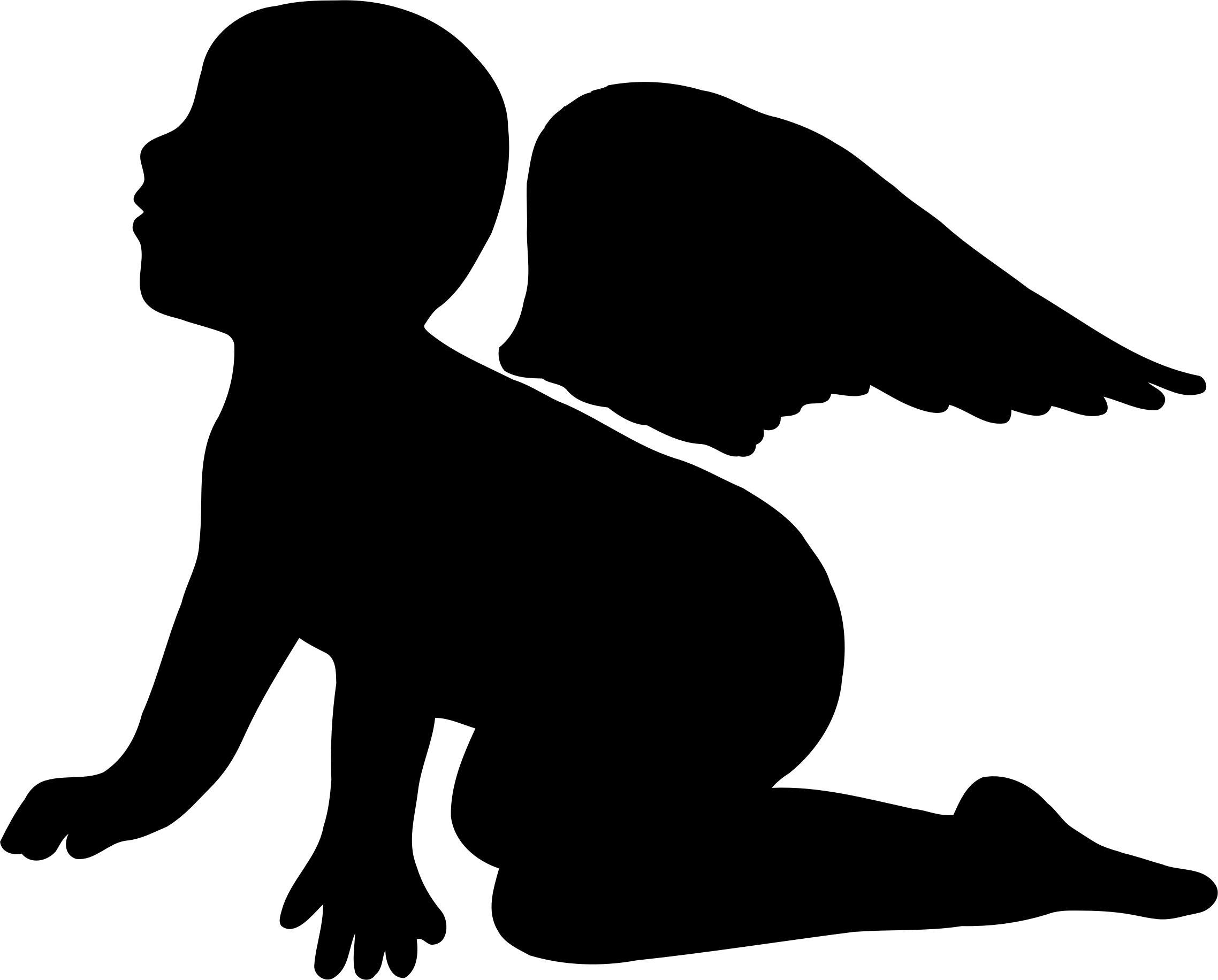 2276x1832 Cherub Silhouette Icons Png