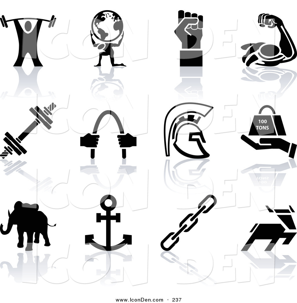 1024x1044 Clip Art Of A Set Of Black Silhouette Strengh Icons Of A Weigh