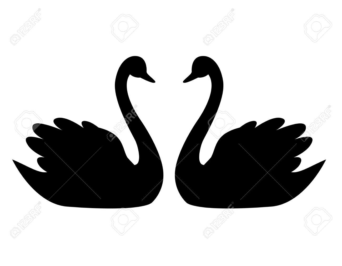 1300x1011 Love Swans Clipart