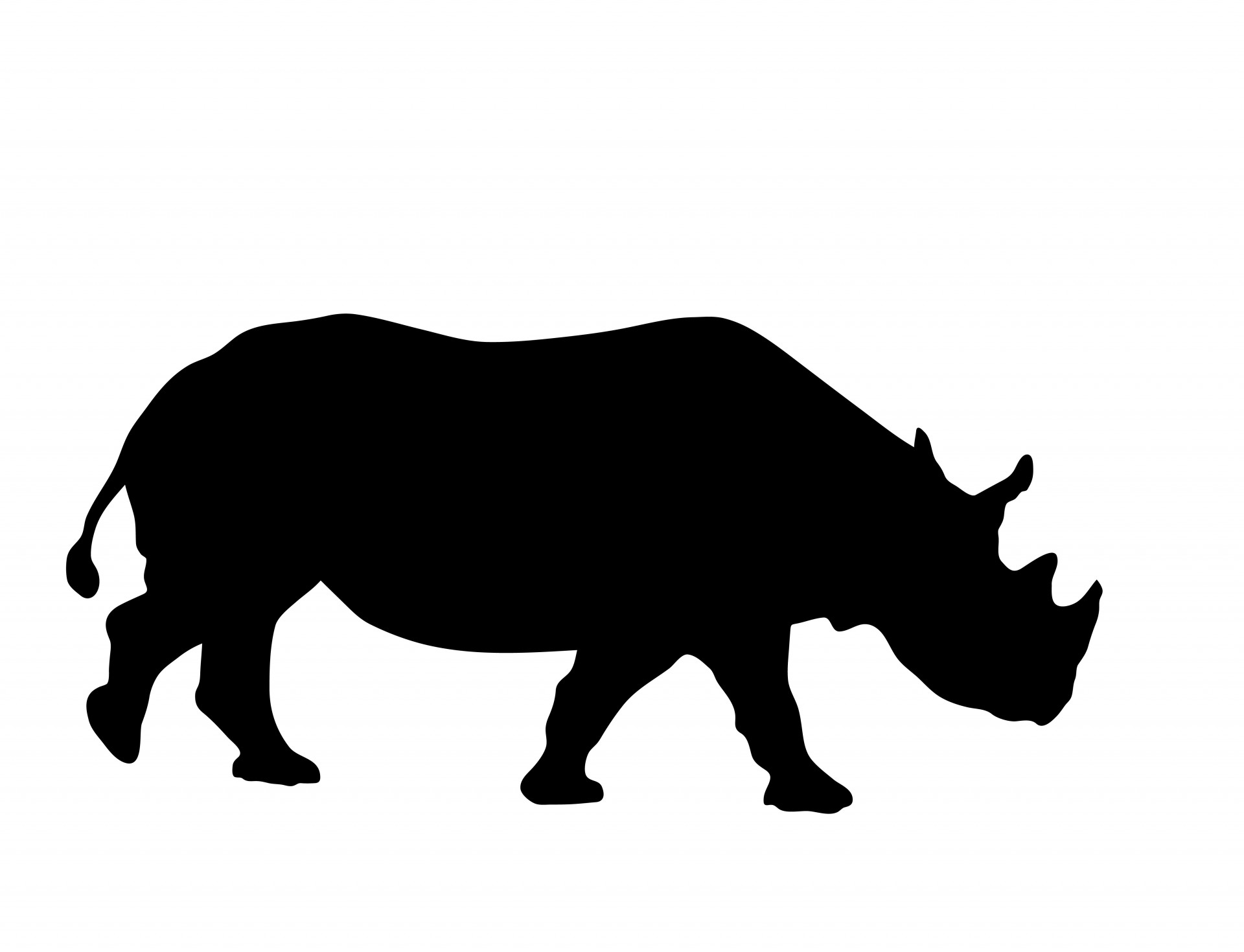 1920x1470 Rhino Silhouette Clipart Free Stock Photo