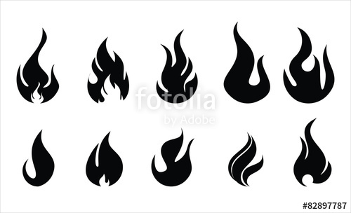 500x304 Fire And Flame Illustration