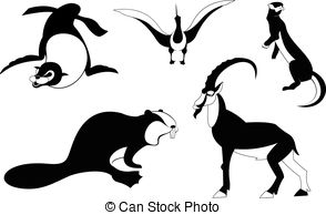 294x194 Cormorant Bird Black Silhouette Animal. Vector Illustrator. Clip