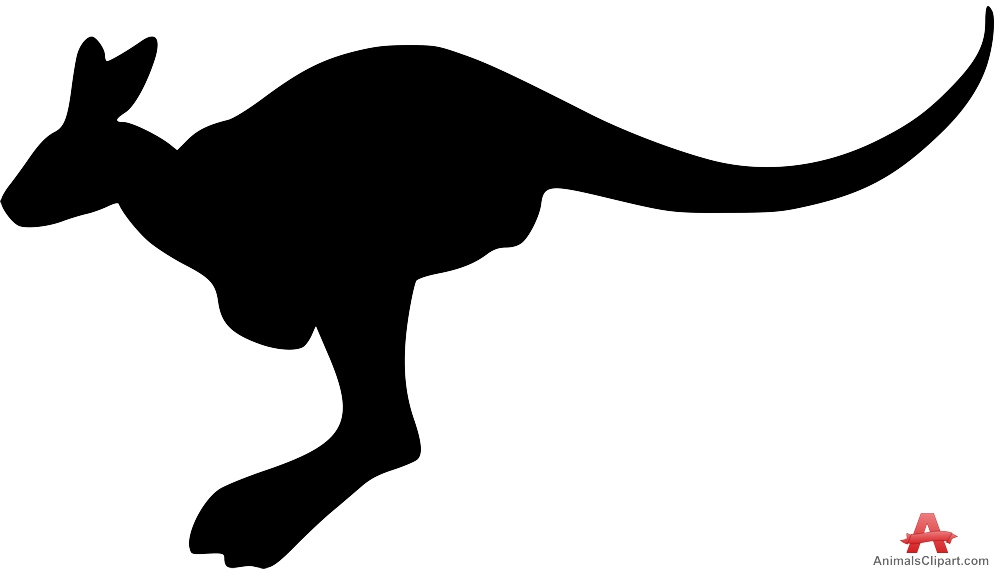 999x571 Kangaroo Animal Silhouette Free Clipart Design Download