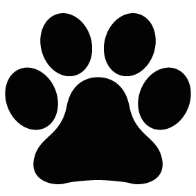 283x283 Animal Paw Print Silhouette Silhouette Of Animal Paw Print