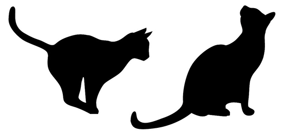 550x265 Cat Silhouette Clip Art Free Vector In Open Office Drawing Svg