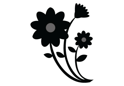 500x350 16 Flower Silhouette Vector Art Images