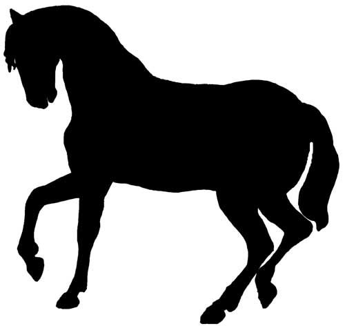 Silhouette Images Of Horses
