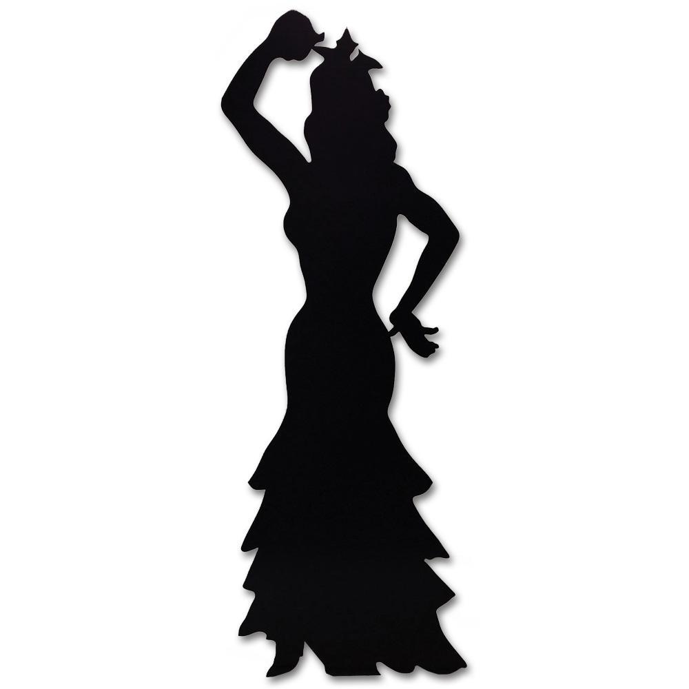1000x1000 Stand Up Flamenco Dancer Silhouette 1.8m Peeks