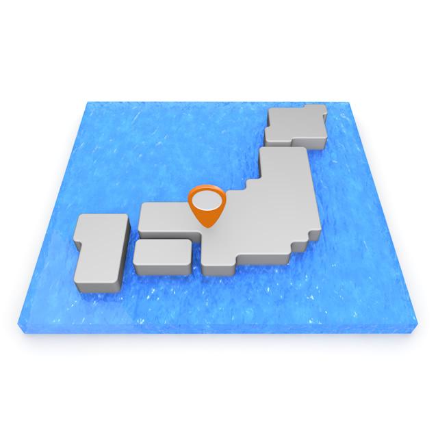 640x640 3d Map Japan Kinki
