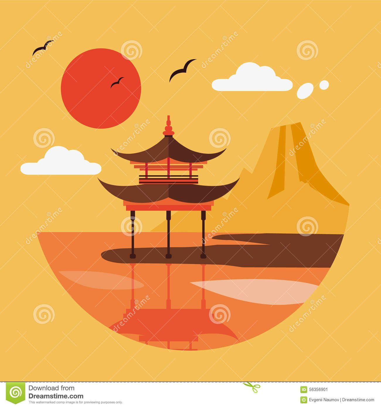 1300x1390 Japan Illustration