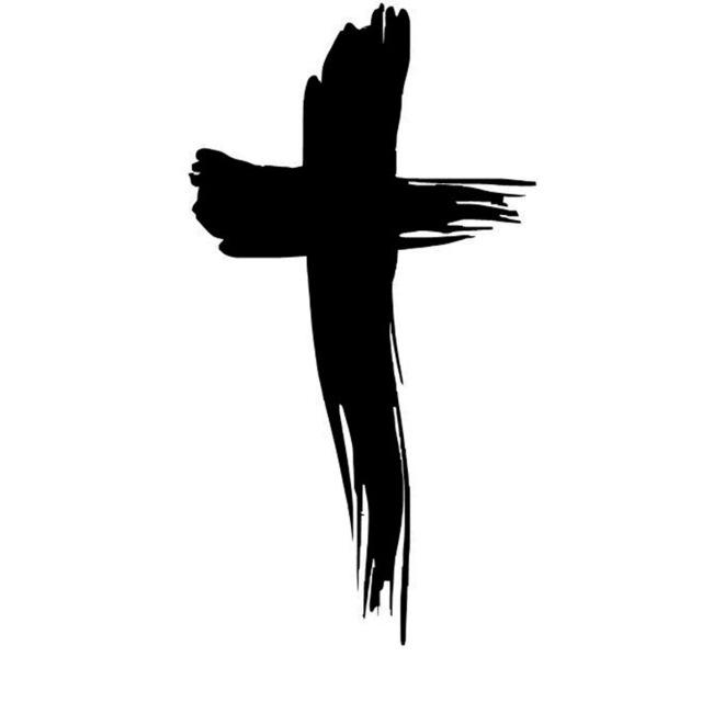 Silhouette Jesus On Cross
