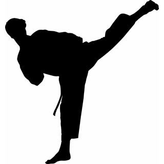 320x320 Free Karate Martial Arts Silhouette Vector Clip Art Karate