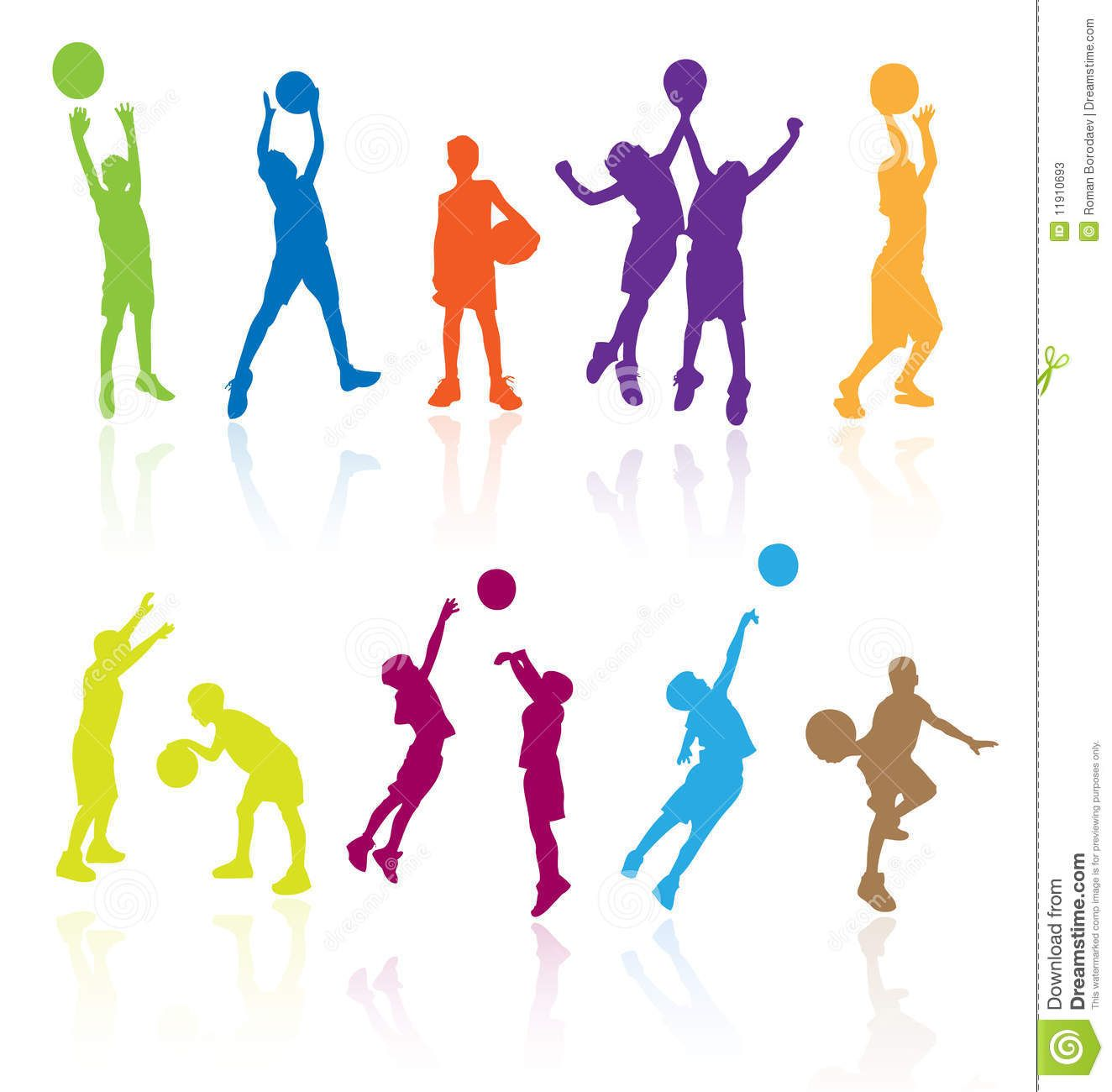1324x1300 Kids Playing Basketball Kid Play Sports Child Children Silhouettes