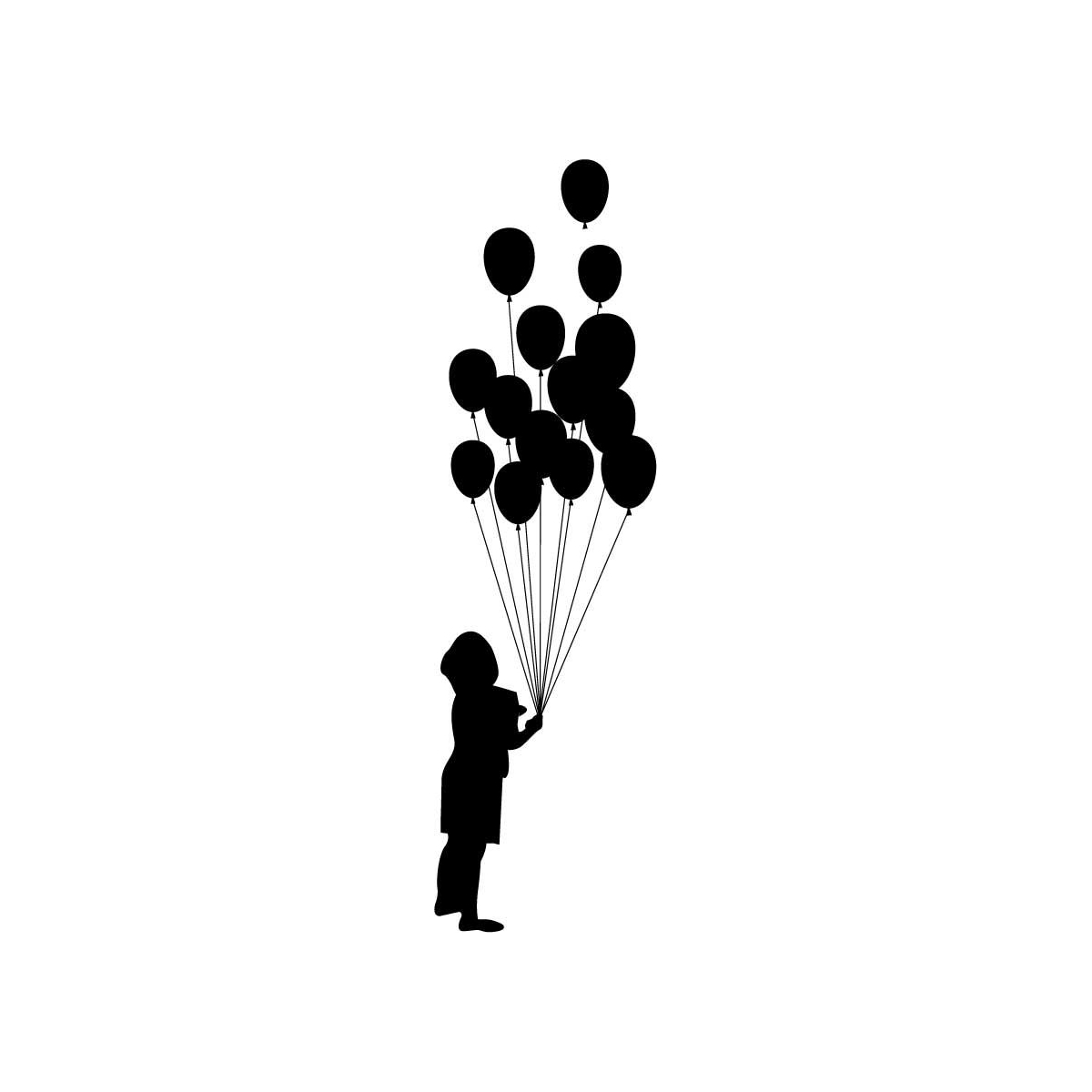 1200x1200 Little Boy Balloon Silhouette Balloon Silhouette Kid Plotten