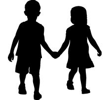 221x203 Love Silhouettes! Maybe Not Kissing Kids But Could Make Some