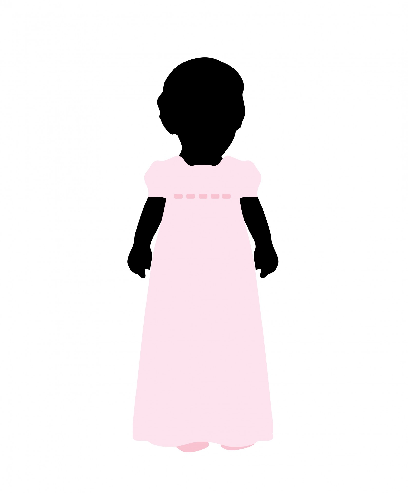 1590x1920 Child Black Silhouette Girl Free Stock Photo