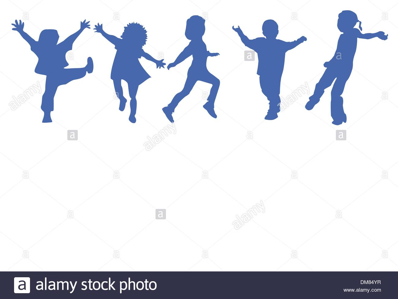 1300x976 Happy Kids Silhouettes Stock Vector Art Amp Illustration, Vector