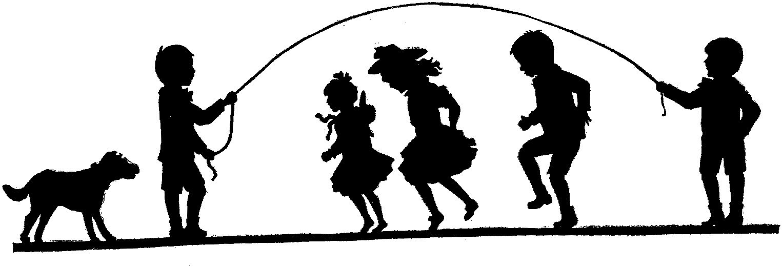 1525x521 Kids Having Fun, Silhouette, Black Amp White Your Kids