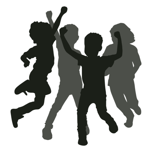 512x512 Kids Having Fun Silhouette