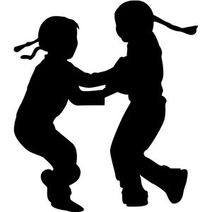 300x300 Children Playing Children Play, Silhouette Design And Silhouette