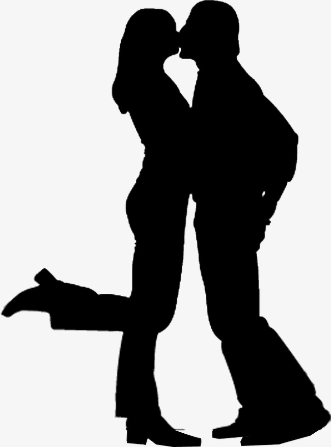 650x878 Kissing Couple Silhouette Figures, Kiss, Lovers, Character Png