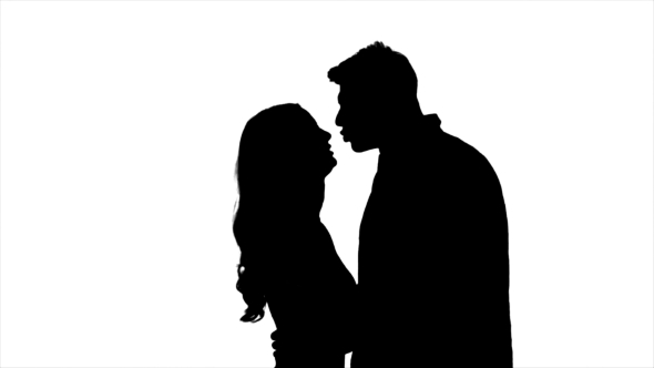 590x332 Lovers Talk And Try To Kiss, Flirt And Start Kissing Each Other