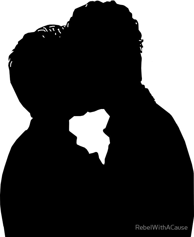 656x800 Malec First Kiss Silhouette Stickers By Rebelwithacause Redbubble