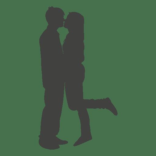 512x512 Romantic Couple Kissing Silhouette