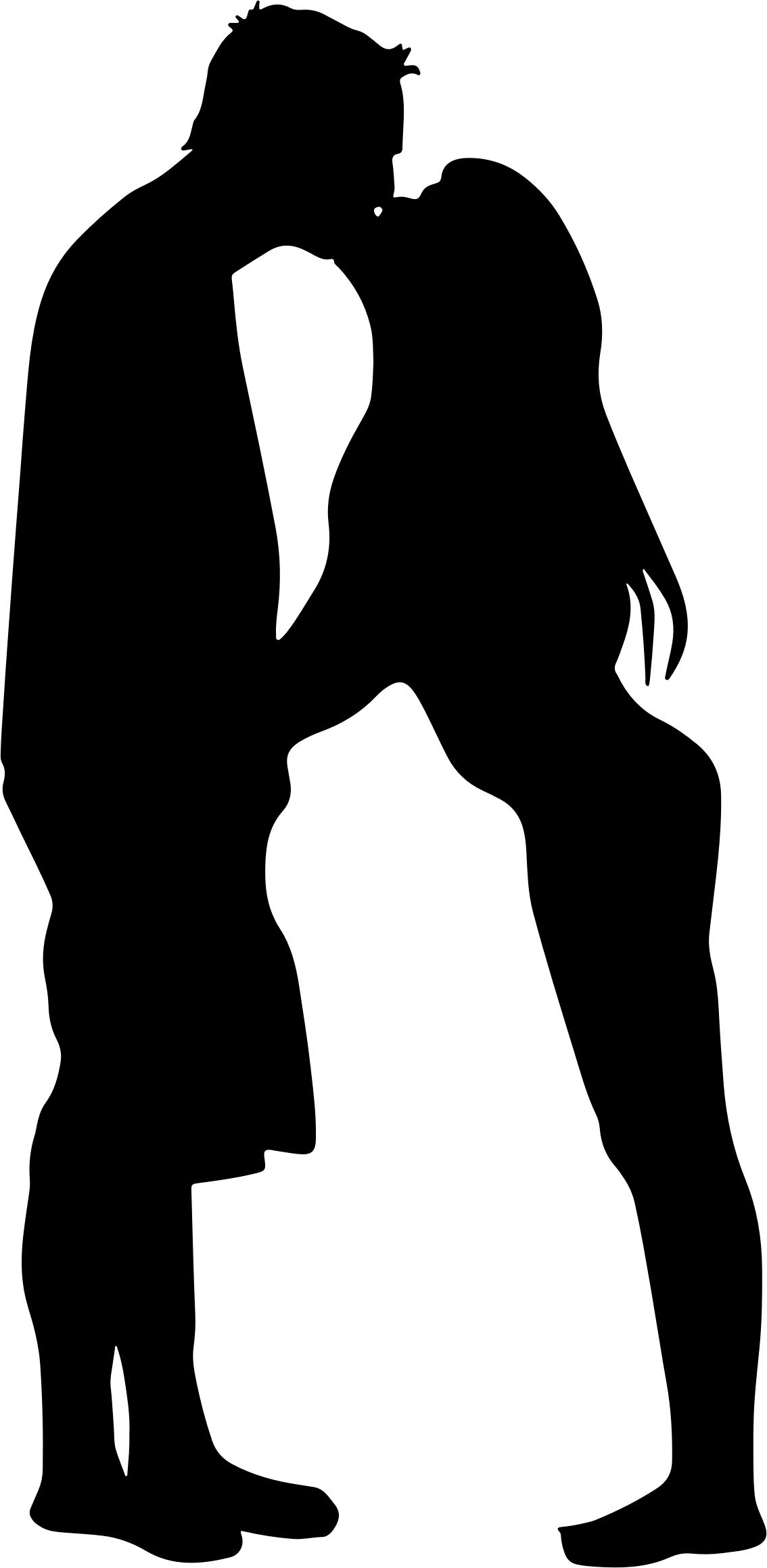 1134x2316 Couple Kissing Silhouette Icons Png