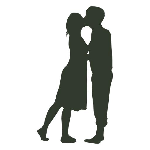 512x512 Couple Kissing Silhouette Passionate