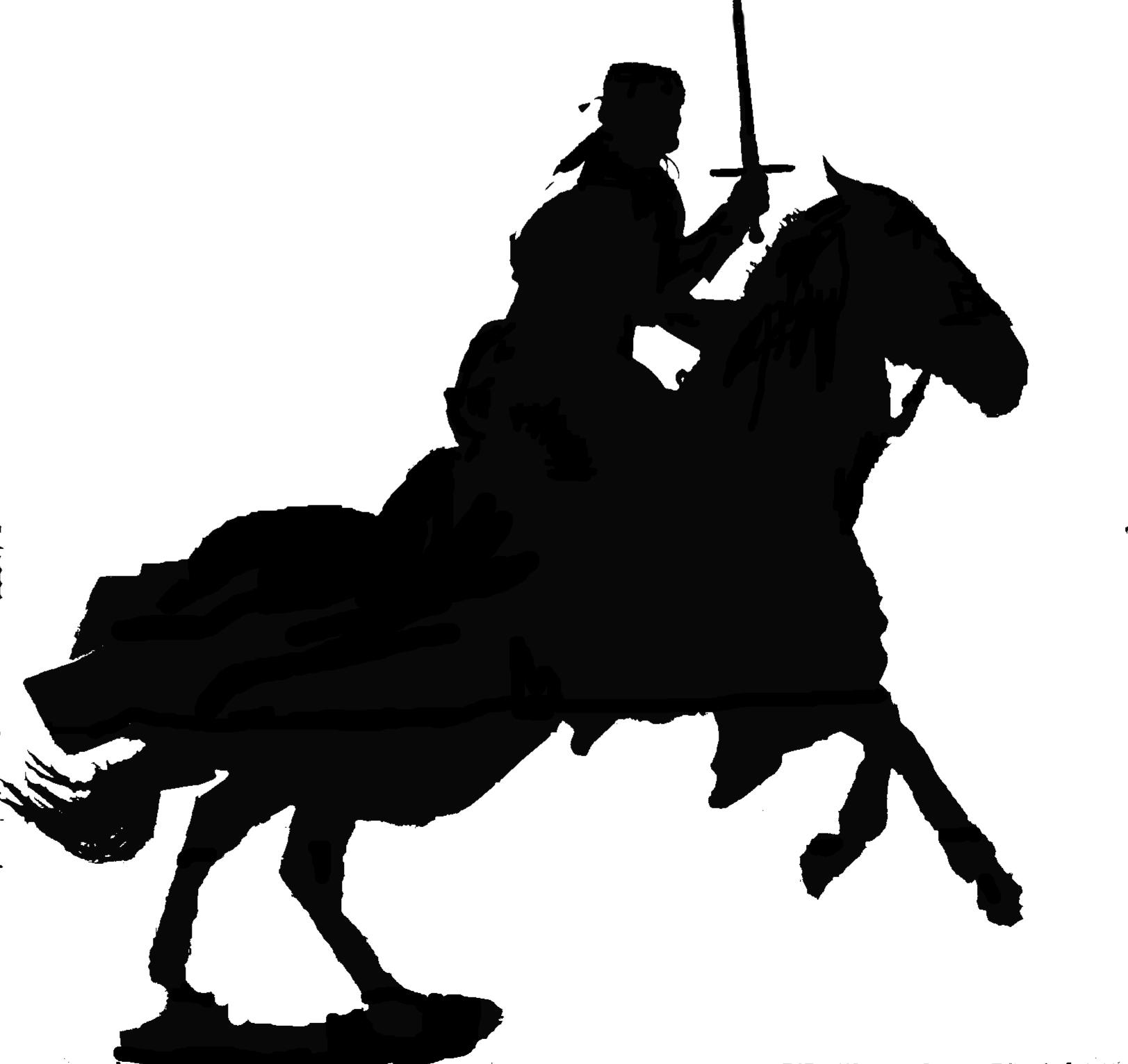 1623x1531 Knight On Horse Sillhoetts Knight
