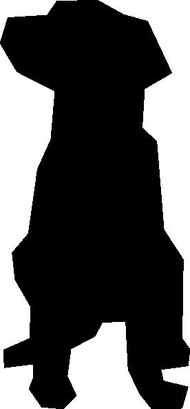 276x592 Black Lab Clip Art