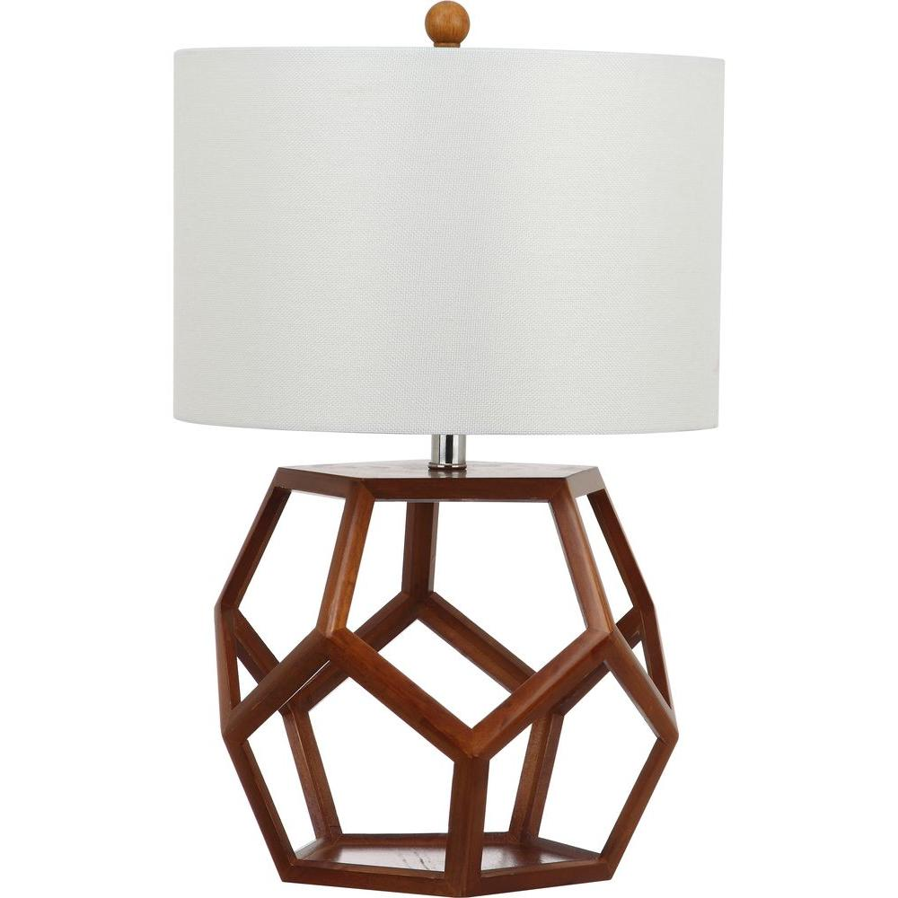 1000x1000 Safavieh Delaney 23.75 In. Brown Table Lamp With Off White Shade