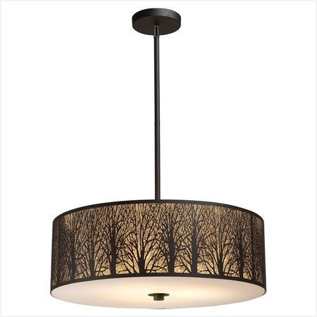 450x450 Silhouette Lamp Shade Searching For Trees Stainless Steel