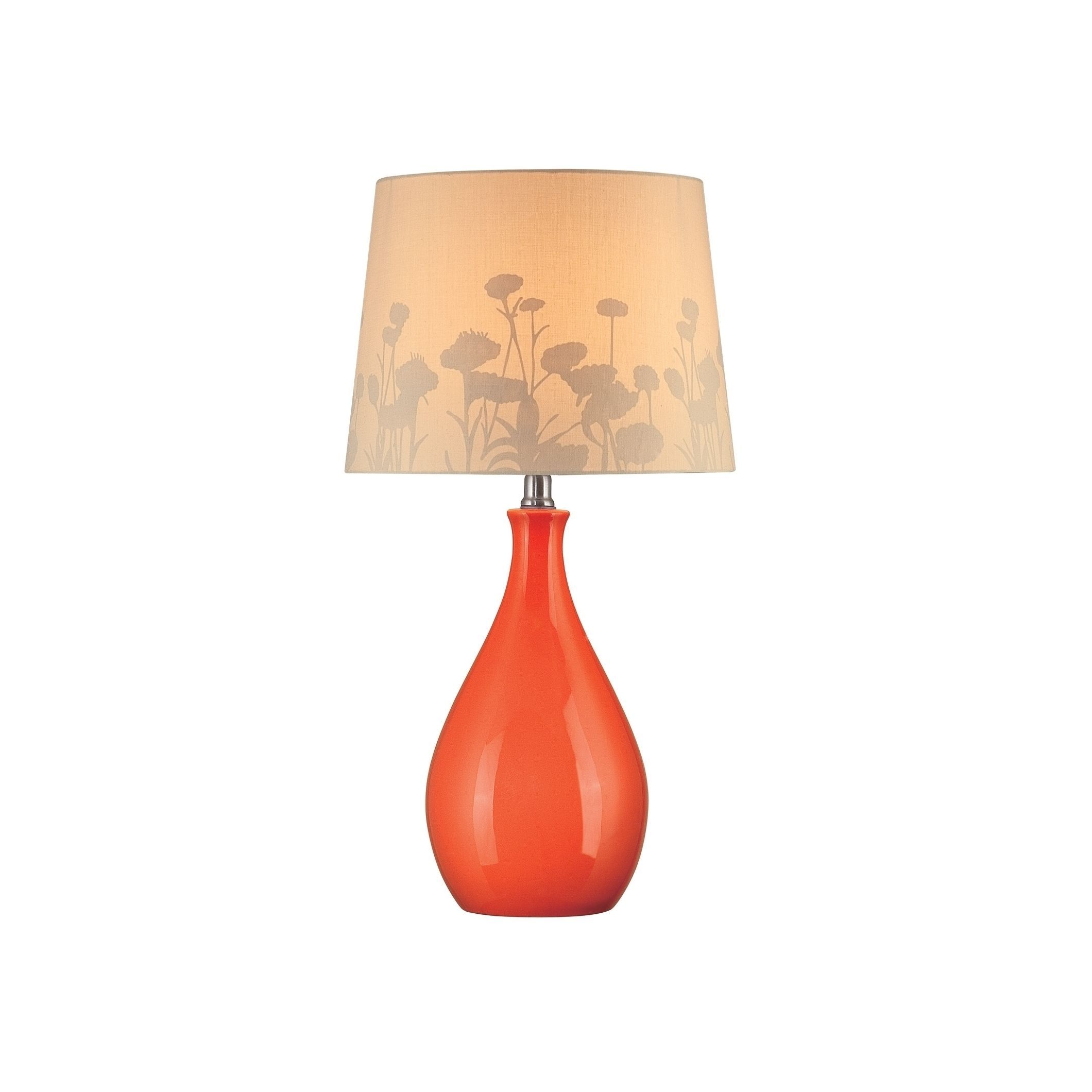 2120x2120 Lite Source Edaline 1 Light Orange Table Lamp (Orange, Beige