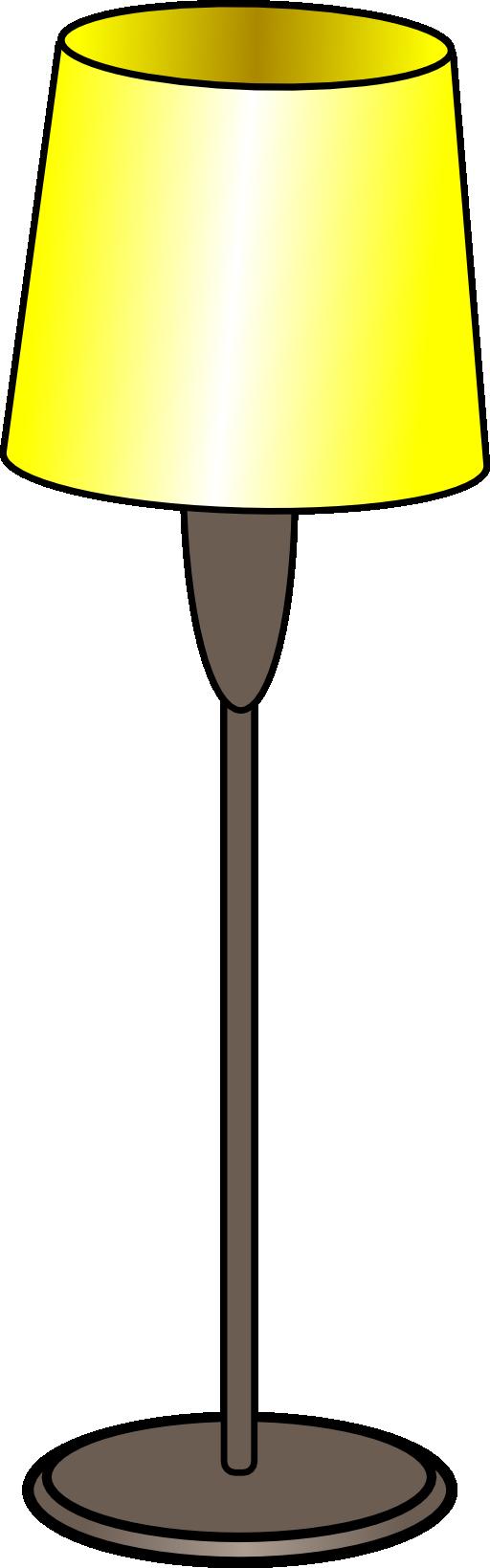 512x1639 Clipart Of Lamp Black Silhouette Free Clip Art Lemonize