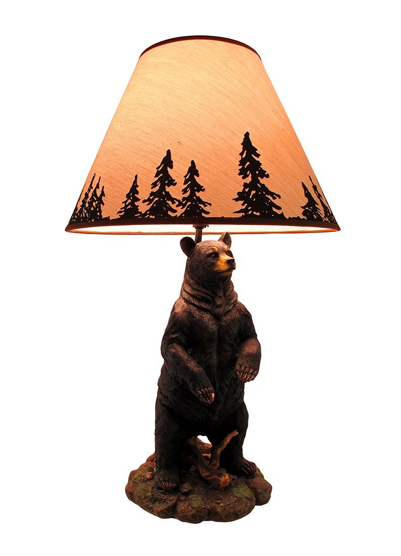 793x1100 Resin Table Lamps Standing Grizzly Bear Table Lamp Wsilhouette