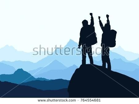 450x336 Mountain Landscape Silhouette Scenic Mountain Scene 4 Mountain