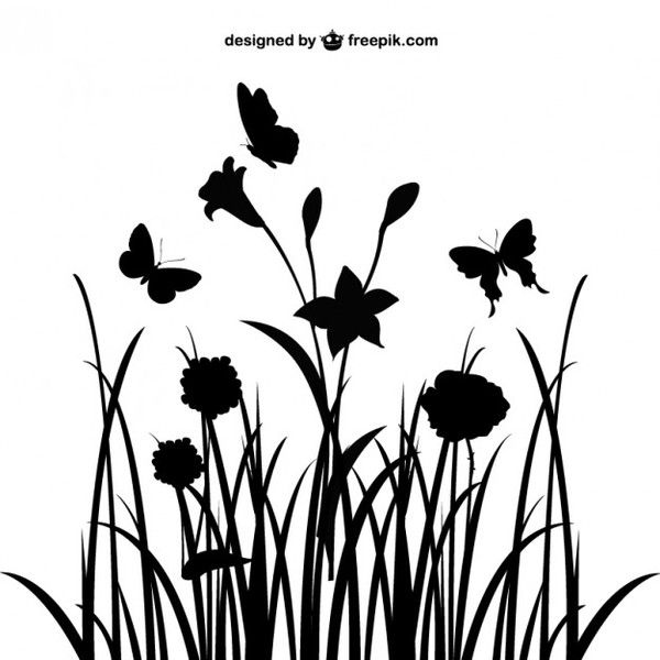 600x600 Floral Landscape Silhouette Free Vector Painting Tutorials