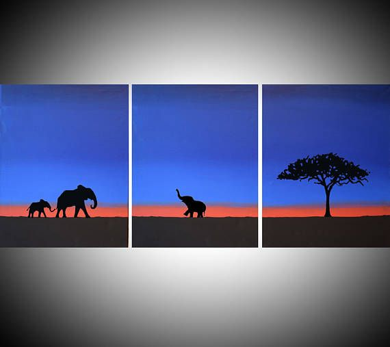 Silhouette Landscape Paintings