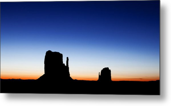 600x373 Silhouette Of The Mitten Buttes In Monument Valley Photograph By