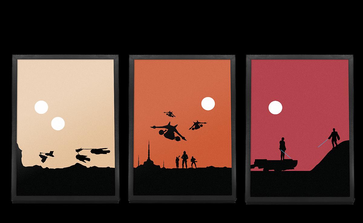 1200x739 Star Wars Minimalist Landscapes On Behance