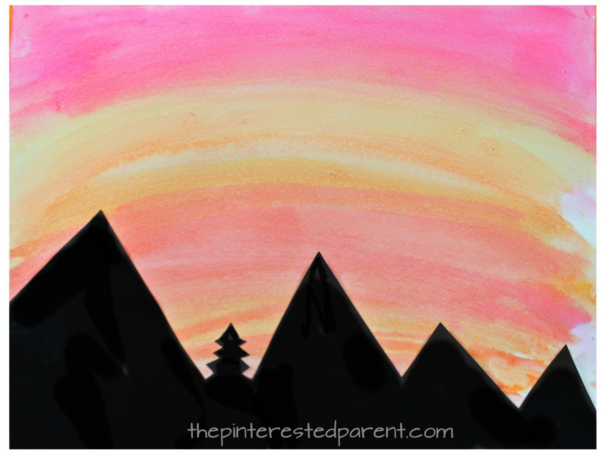 2000x1517 Watercolor Silhouette Landscapes Free Printable, Silhouettes