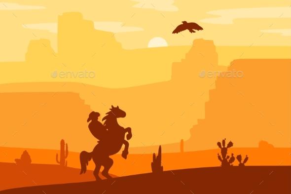 590x393 Wild West Landscape By Barsrsindshop Graphicriver