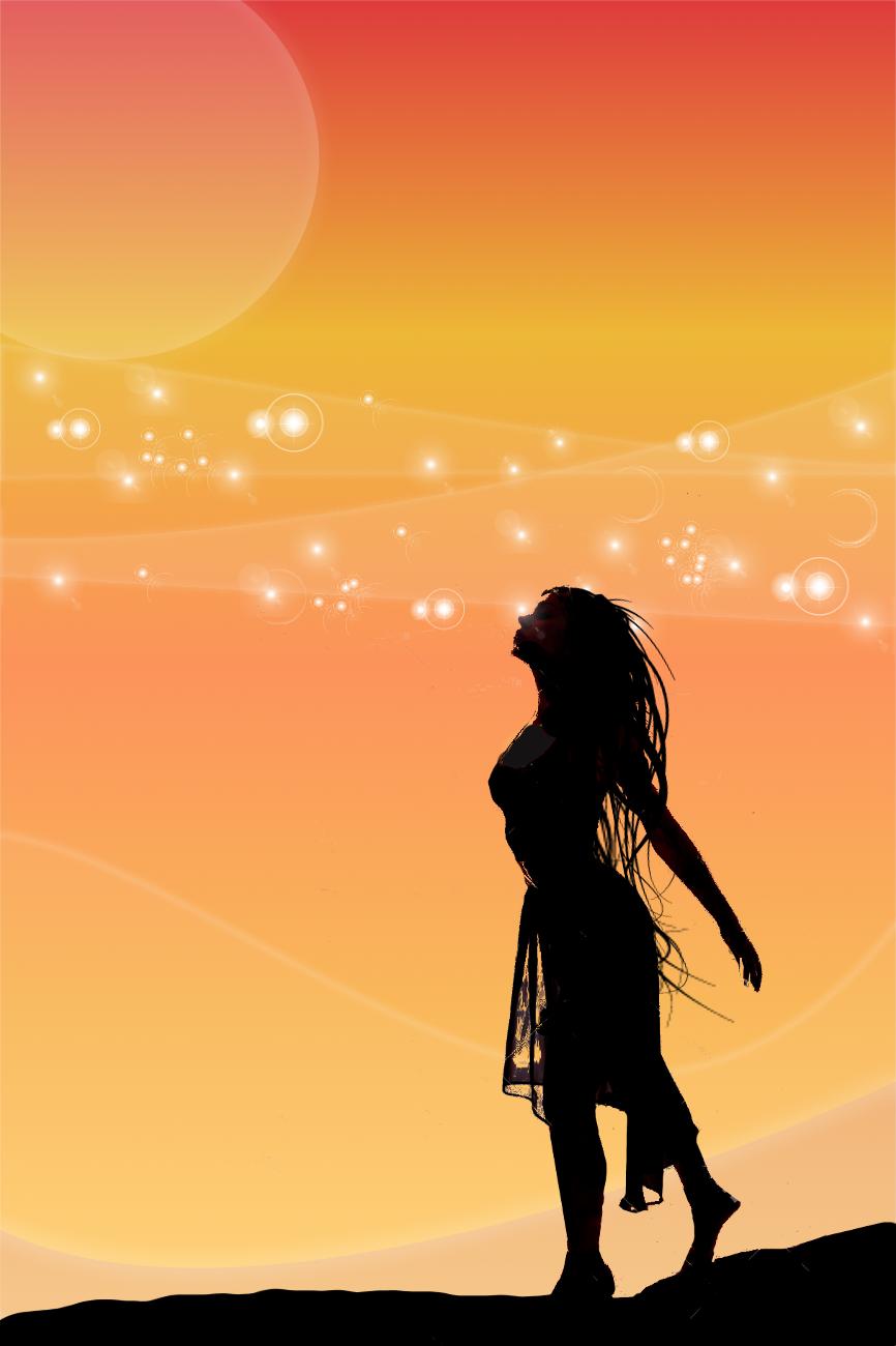 866x1300 Woman Silhouette Digital Art Manipulation By Benjimacy