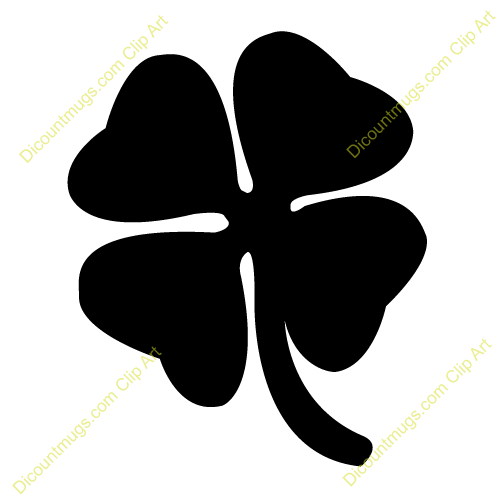 500x500 Clover Clipart Silhouette