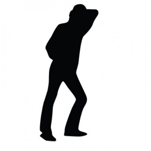 500x500 Man Leaning Silhouette