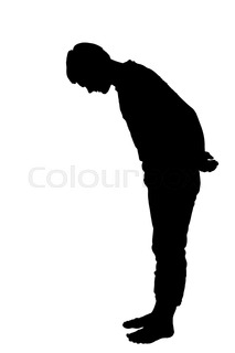 213x320 Side Profile Portrait Silhouette Of A Teenage Boy Leaning Forward